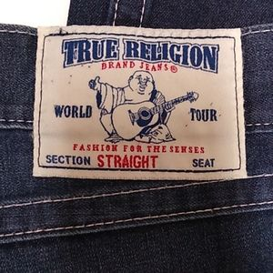 True Religion Jeans Straight flap dark wash 40/34